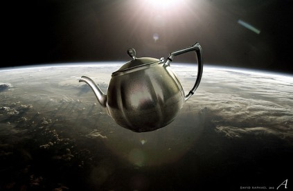 "Is someone who thinks the search for the Cause of the Universe equals the search for a teapot really a ""free"" thinker?"