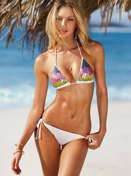 Beautiful-Victorias-Secret-Model-Candice-Swanepoel-Modeling-In-Sexy-Victorias-Secret-Bikini-Tops-And-White-Bikini-Bottoms-Modeling-In-The-Caribbean-Beaches