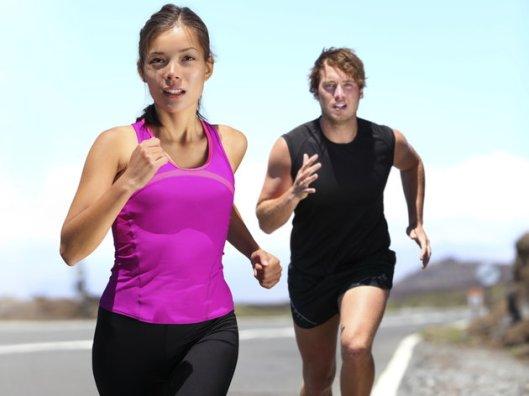 Runners - couple running
